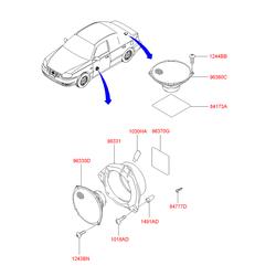 Динамик двери 20вт (Hyundai-KIA) 9633025010