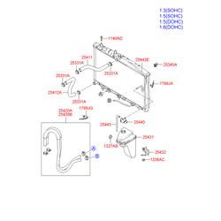 Патрубок резиновый (Hyundai-KIA) 2541125100
