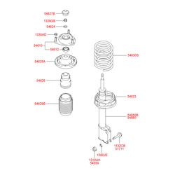Подшипник шариковый (Hyundai-KIA) 5461225000