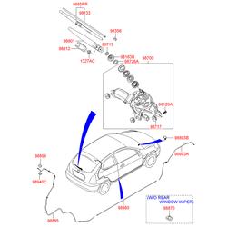Колпачок держателя щетки стеклоочистителя (Hyundai-KIA) 987122F000