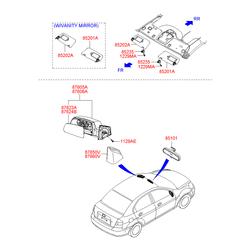 Заглушка пластиковая (Hyundai-KIA) 876501E000