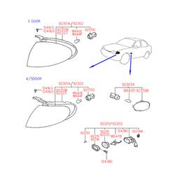 Противотуманная фара (Hyundai-KIA) 9220122300