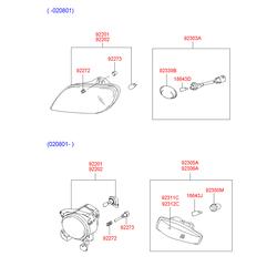 Фара противотуманная (Hyundai-KIA) 9220125300