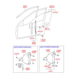 Стеклоподъёмник стекла двери передний левый (Hyundai-KIA) 8240125000