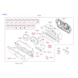 Щиток приборов в сборе (спидометры и тахометры) (Hyundai-KIA) 9400325100