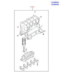 Блок цилиндров в сборе (Hyundai-KIA) 2110226B00