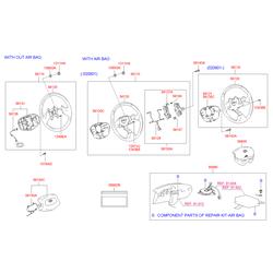 Крышка рулевого колеса (Hyundai-KIA) 5615025000LT