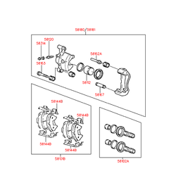 Палец переднего тормоза (Hyundai-KIA) 5816232300