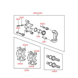 Палец переднего тормоза (Hyundai-KIA) 5816732000