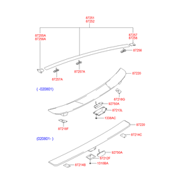 Заглушка спойлера кузова (Hyundai-KIA) 8726425000