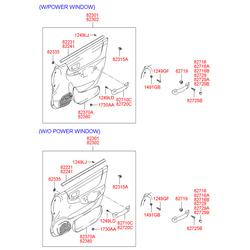 Уплотнитель стекла двери (Hyundai-KIA) 8223125000
