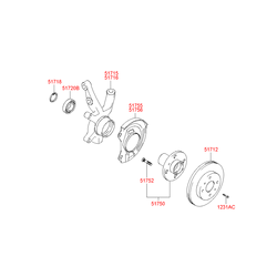 Цапфа поворотного кулака (Hyundai-KIA) 5171525500
