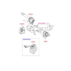 Подрулевой переключатель стеклоочистителя (рычажн.) (Hyundai-KIA) 934201C131