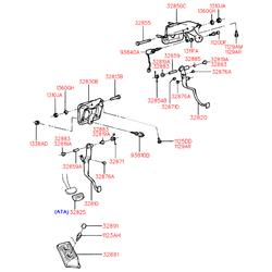 Накладка педали резиновая (Hyundai-KIA) 3282524000