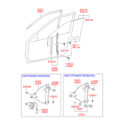 Направляющая стекла двери (Hyundai-KIA) 8254025001
