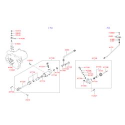 Цилиндр сцепления рабочий (Hyundai-KIA) 4171022660