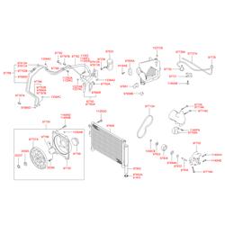 Конденсатор системы охлаждения не содержит хладогента (Hyundai-KIA) 9760625600