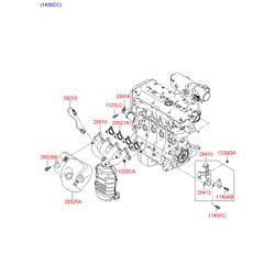 Прокладка турбокомпрессора (Hyundai-KIA) 282852A100