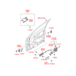 Ручка двери металлическая (Hyundai-KIA) 826101E000WK