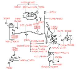 Ручка двери пластмассовая (Hyundai-KIA) 8266022000CA