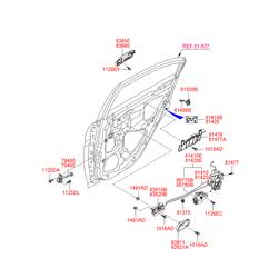 Ручка двери пластмассовая (Hyundai-KIA) 836601E000CA