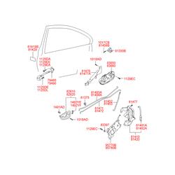 Ручка двери пластмассовая (Hyundai-KIA) 8366025000CA