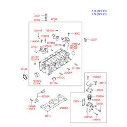 Прокладка ГБЦ металлическая многослойная (Hyundai-KIA) 2231122620