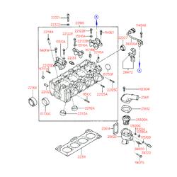 Болт с шестигранной головкой (Hyundai-KIA) 2232122000