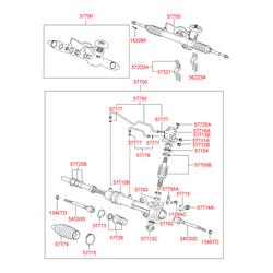 Набор сальников рулевой рейки (Hyundai-KIA) 5779025A00