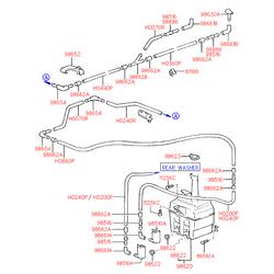 Бачок жидкости стеклоомывателя (Hyundai-KIA) 9860222010