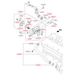 Опорная скоба топливной трубки (Hyundai-KIA) 3927502500