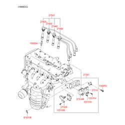 Провода свечные высоковольтные (Hyundai-KIA) 2743026700