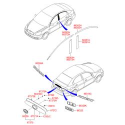 Эмблема декоративная пластиковая (Hyundai-KIA) 863111E000