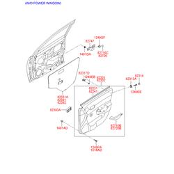 Заглушка внутренней панели двери (Hyundai-KIA) 827343A000AR