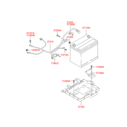 Защитный кожух клеммы аккумулятора (Hyundai-KIA) 372901C000