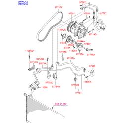 Натяжной ролик поликлиновой ремень (Hyundai-KIA) 9783422100