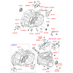 Упорное кольцо раздаточной коробки (Hyundai-KIA) 4313623000