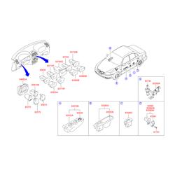 Выключатель обогрева заднего стекла (Hyundai-KIA) 9371025000