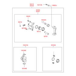 Набор сальников тормозного цилиндра (Hyundai-KIA) 5810225A00