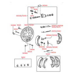 Планка распорная барабанного тормоза (Hyundai-KIA) 5837025000