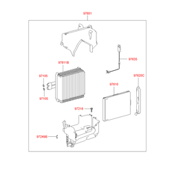 Защитный кожух воздушного фильтра салона (Hyundai-KIA) 9761225000