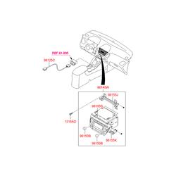Автомагнитола (CD, MP3, RADIO) (Hyundai-KIA) 961642S000