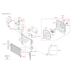 Вентилятор радиатора двигателя (Hyundai-KIA) 253802S500