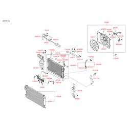 Радиатор, охлаждение двигателя (Hyundai-KIA) 253102E501