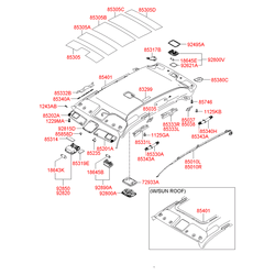 Ручка салонная пластмассовая (Hyundai-KIA) 853902E100QS