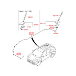Штыревая антенна автомагнитолы (Hyundai-KIA) 962152J000