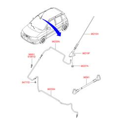 Штыревая антенна автомагнитолы (Hyundai-KIA) 9625017500