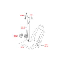 Ремень безопасности в сборе (Hyundai-KIA) 888102E300LM