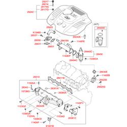 Электромагнитный обратный клапан из латуни контроля системы рециркуляц (Hyundai-KIA) 2841027250