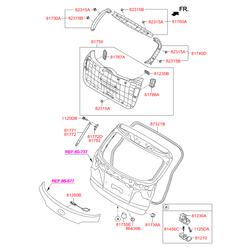 Петля замка крышки багажника (Hyundai-KIA) 812102S001